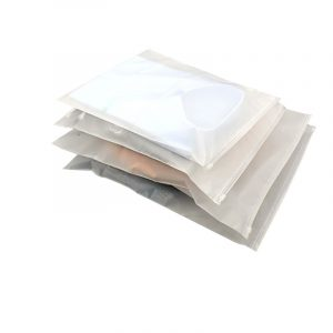 CPE frosted zipper bag dust bag (1)