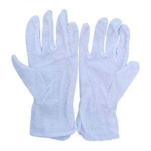 Cotton slip ceremonial gloves (2)