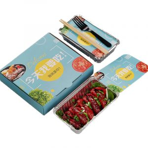 Customizable printing Disposable aluminum foil tin foil box fast food box Corrugated box (1)