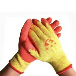 Dipped line wrinkle non-slip gloves (1)