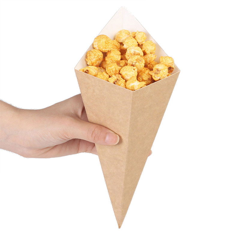 Disposable Conical Fries Packing Box (4)