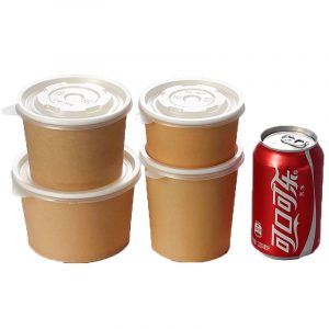 Disposable kraft paper soup bowl (4)