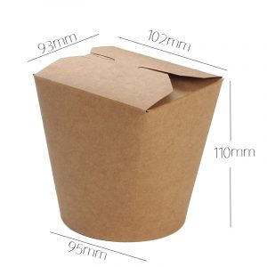 Disposable round paper bowl with lid (8)