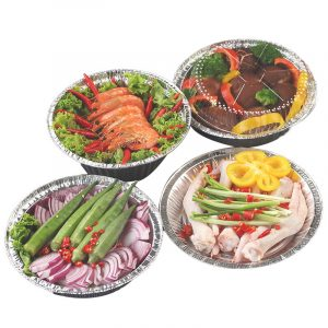 Disposable tin foil bowl disc packing box 2