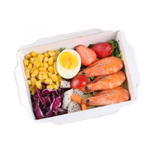 Disposable transparent cover kraft paper salad box (5)