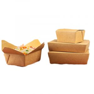 Disposable white card fast food box (1)