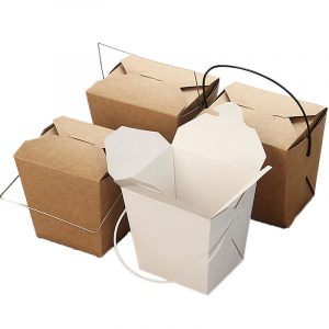 Disposable white card fast food box (2)