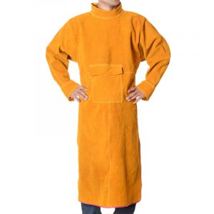 High Collar Long Sleeve Leather Workwear Overalls (2)