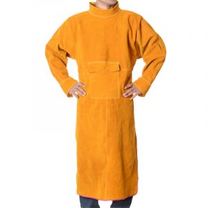 Long Section High Collar Long Sleeve Protective Suit (1)