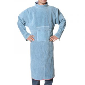 Long Section High Collar Long Sleeve Protective Suit (2)