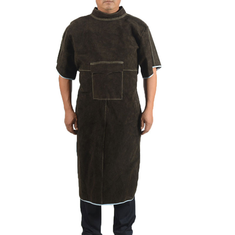 Long Section High Collar Short Sleeve Protective Suit (1)