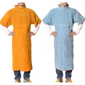 Long Section High Collar Short Sleeve Protective Suit (2)