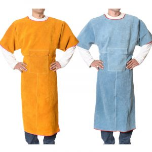 Long Section Low Collar Short Sleeve Protective Suit (1)