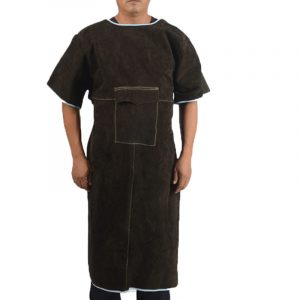 Long Section Low Collar Short Sleeve Protective Suit (2)