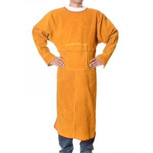 Long section low collar long sleeve protective suit (2)