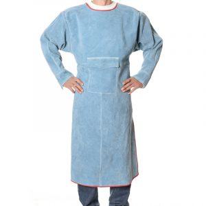 Long section low collar long sleeve protective suit (3)