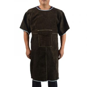 Low Collar Short Sleeve Leather Workwear Overalls (1)