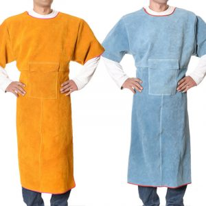 Low Collar Short Sleeve Leather Workwear Overalls (4)