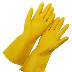Oil-proof latex cleaning gloves
