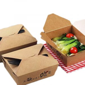 One-time card four-corner carton lunch box1
