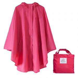 Polyester Dot Outdoor Raincoat (6)