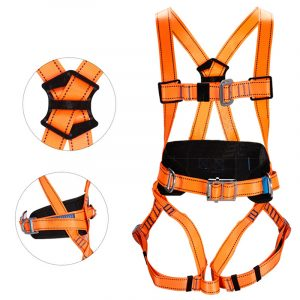 Polyester five-point fall protection safety rope (2)