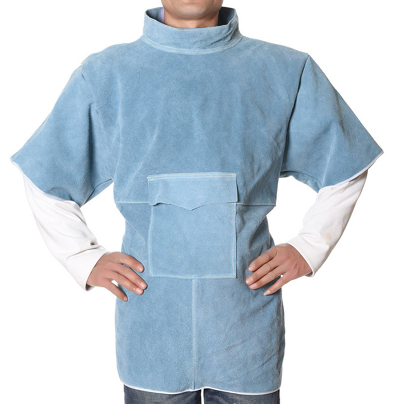 Short High Collar Short Sleeve Protective Suit (1)