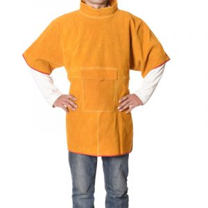 Short High Collar Short Sleeve Protective Suit (3)