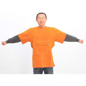 Short Low Collar Short Sleeve Protective Suit (1)
