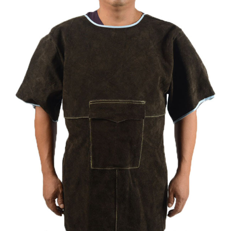 Short Low Collar Short Sleeve Protective Suit (2)