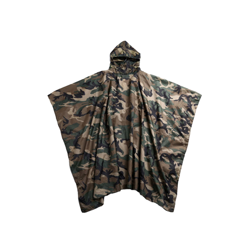 Square Polyester Camouflage Raincoat (1)