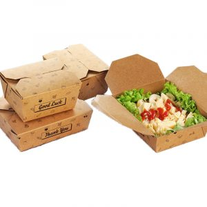 Thick kraft paper lunch box4
