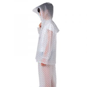 Thickened One-Piece Student Transparent Raincoat (1)